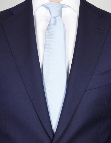 Kiton Krawatte in hell blau aus Seide/Kaschmir/Baumwolle
