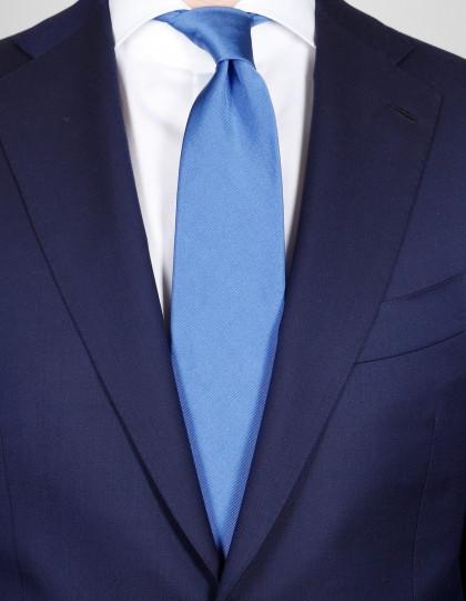 Cesare Attolini Krawatte in blau strukturiert