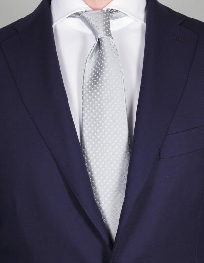Luigi Borrelli Krawatte in silber mit silber Karos