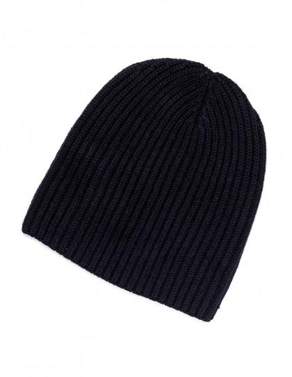 Fedeli Mütze in schwarz aus Kaschmir