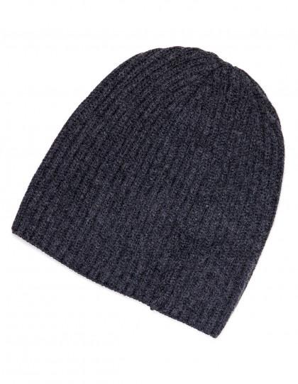Fedeli Mütze in antracite aus  Kaschmir