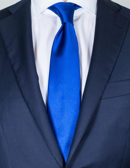 Luigi Borrelli Krawatte in stahlblau