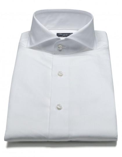 Finamore 1925 Hemd in weiß mit Haikragen