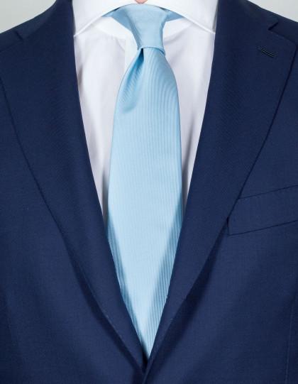 Luigi Borrelli Krawatte in silberblau
