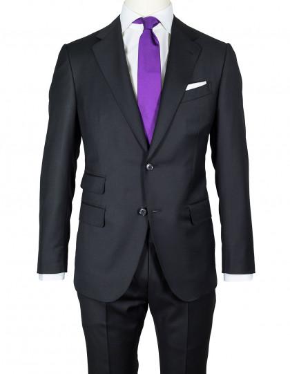 Caruso Anzug in schwarz aus Super 130'S Wolle