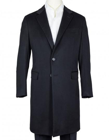 Caruso Mantel in schwarz aus Kaschmir