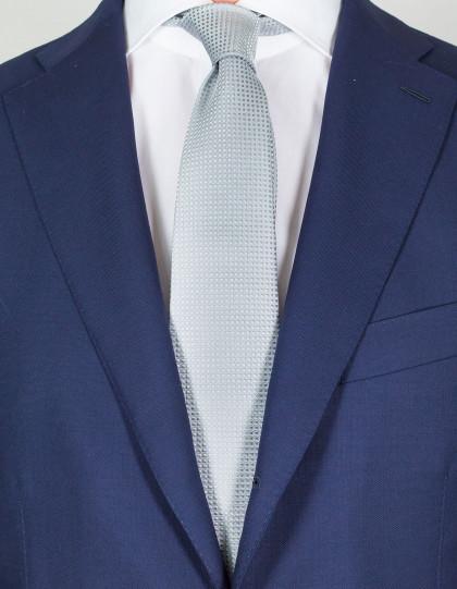 Kiton Krawatte in silber mit Muster