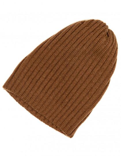 Fedeli Mütze in braun aus Kaschmir