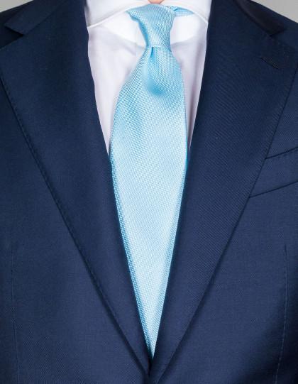 Luigi Borrelli Krawatte in hellblau mit Struktur