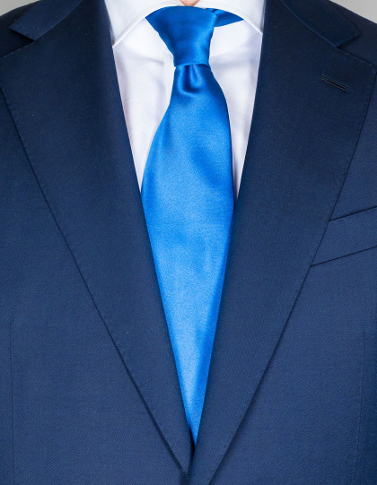 Kiton Krawatte in napoliblau