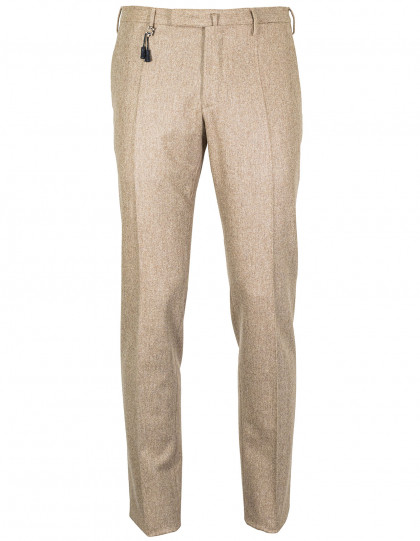 Incotex Winterhose in beige meliert aus Super 100'S Wolle