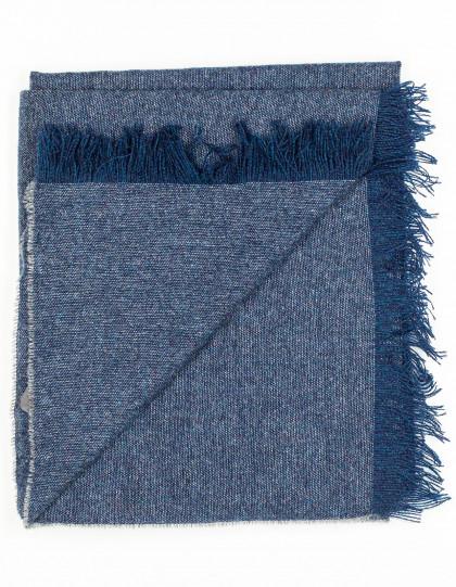 Kiton Schal in blaugrau aus Kaschmir