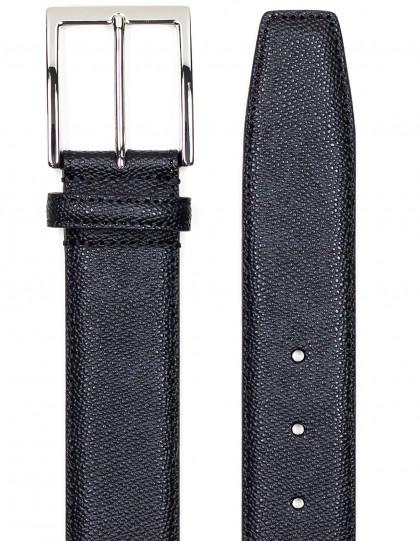 SOBS Herrenmode Ledergürtel in schwarz mit Struktur