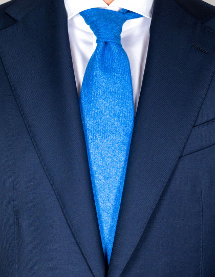 Cesare Attolini Krawatte in himmelblau meliert aus Kaschmir