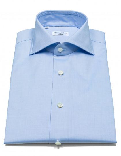 Cesare Attolini Hemd in blau mit Haikragen
