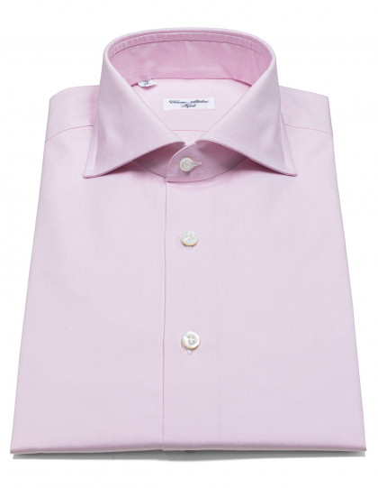 Cesare Attolini Hemd in rosa mit Haikragen