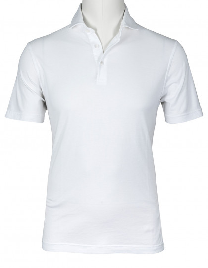 Fedeli Polo in weiß aus Jersey (Organic Cotton)