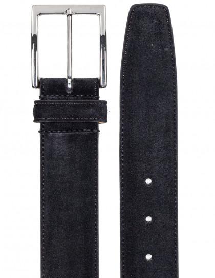 SOBS Herrenmode Veloursledergürtel in schwarz