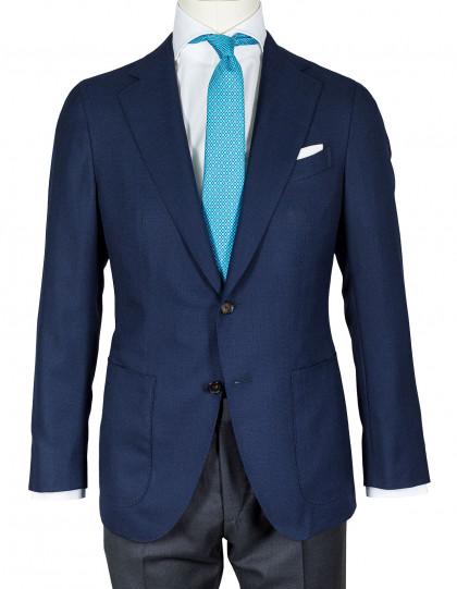 Caruso Sakko in kobaltblau mit aufgesetzten Taschen