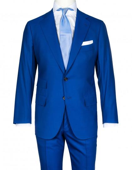 Cesare Attolini Anzug in kobaltblau aus Super 140'S Wolle