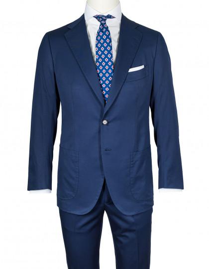 Cesare Attolini Anzug in dunkelblau mit aufgesetzten Taschen aus 100% Sea Island Cotton