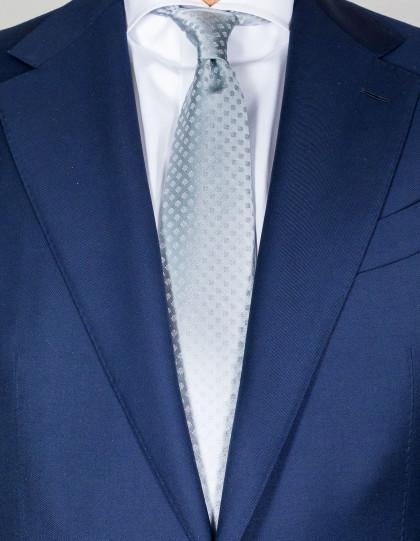 Kiton Krawatte in silber mit feinem Muster