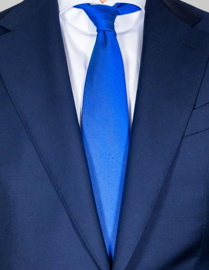 Kiton Krawatte in blau strukturiert