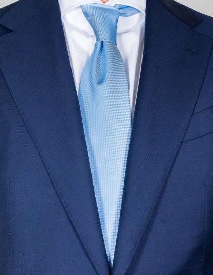 Luigi Borrelli Krawatte in hellblau strukturiert