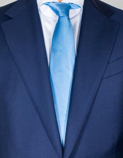 Kiton Krawatte in hellblau mit Struktur
