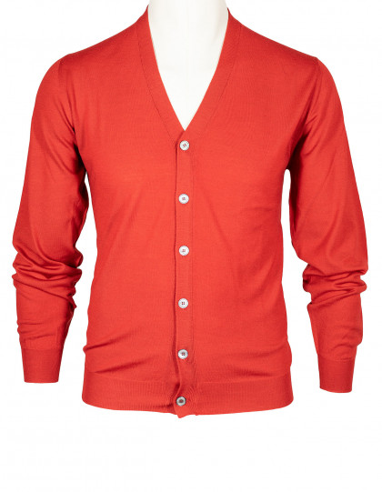 "Fedeli Strickjacke in rot aus ""Lana Superfine 140'S"" Wolle"