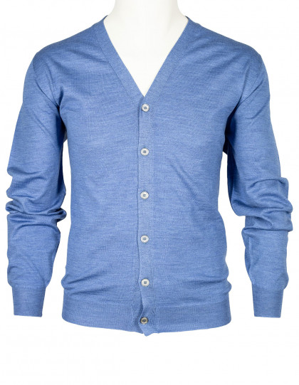 "Fedeli Strickjacke in hellblau aus ""Lana Superfine 140'S"" Wolle"