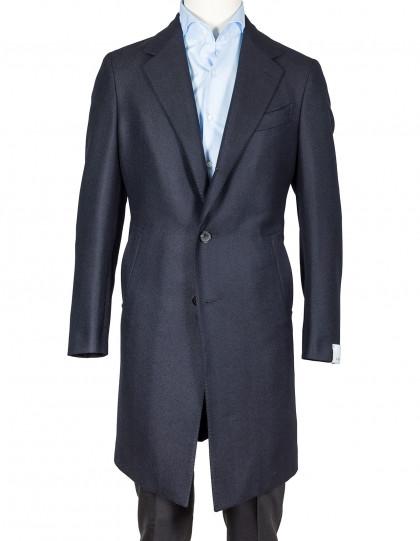 Caruso Mantel in dunkelblau mit Fischgratmuster aus Kaschmir/Wolle
