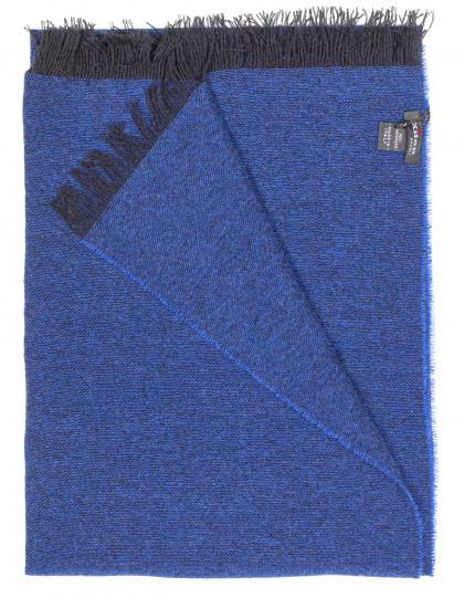 Kiton Schal in dunkelblau mit dunkelblauen Fransen aus Kaschmir