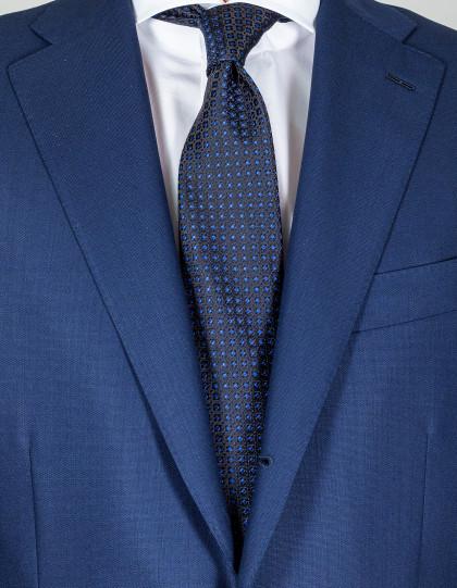 Kiton Krawatte in dunkelblau mit blauen Punkten