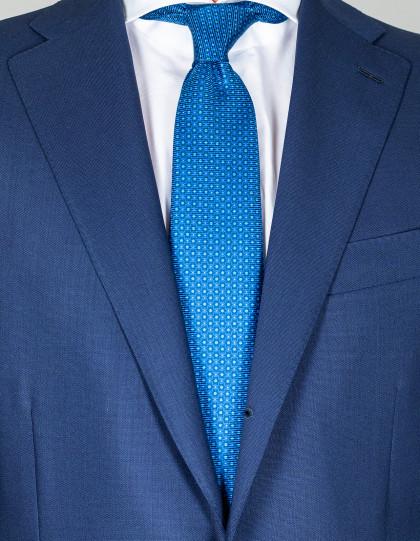 Kiton Krawatte in blau mit Punkten und Muster