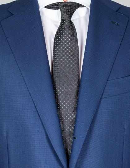 Kiton Krawatte in schwarz mit weißen Punkten