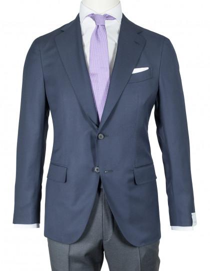 Caruso Sakko dunkelblau strukturiert aus Wolle
