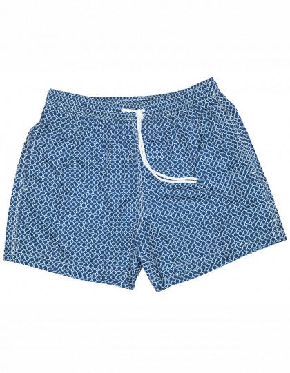 "Fedeli Badehose ""Madeira Airstop"" in dunkelblau mit weißem-Muster"