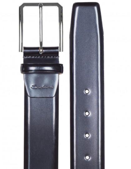 Santoni Glattledergürtel in schwarz