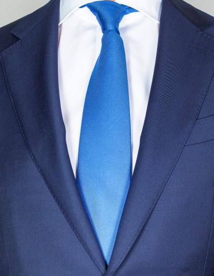 Kiton Krawatte in brillantblau mit Struktur
