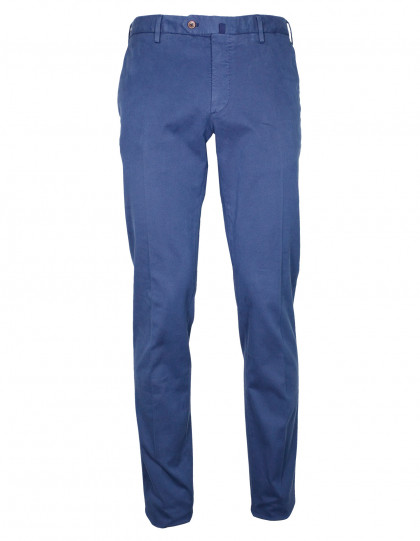 Incotex Chino Slim fit in mittel blauaus Baumwolle