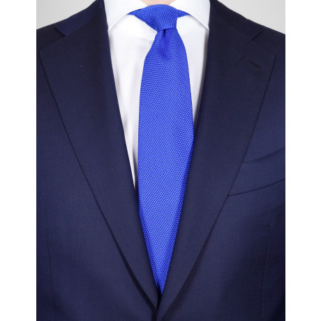 Cesare Attolini Krawatte in stahlblau gewebt