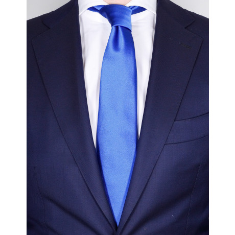 Kiton Krawatte in stahlblau aus Seide