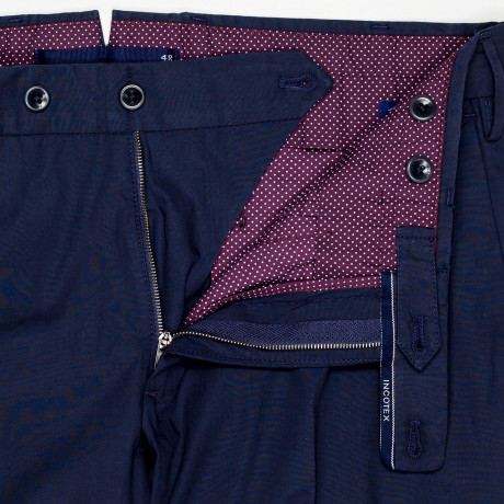 "Incotex Chino ""high comfort"" in dunkelblau"