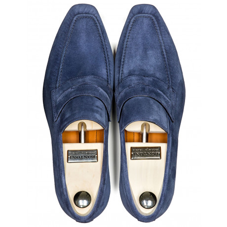 Bontoni Loafer in blau aus Veloursleder