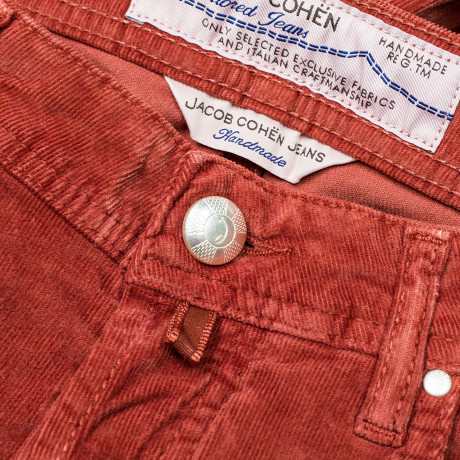 Jacob Cohen Cordhose PW688 Comfort in rot