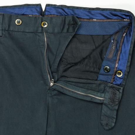 PT01 Hose Slim Fit in dunkelblau aus Baumwolle/Kaschmir