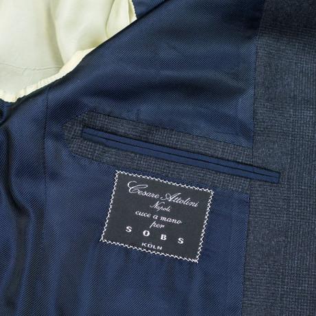 Cesare Attolini Anzug in dunkelgrau mit Glencheckmuster aus Super 150'S Wolle
