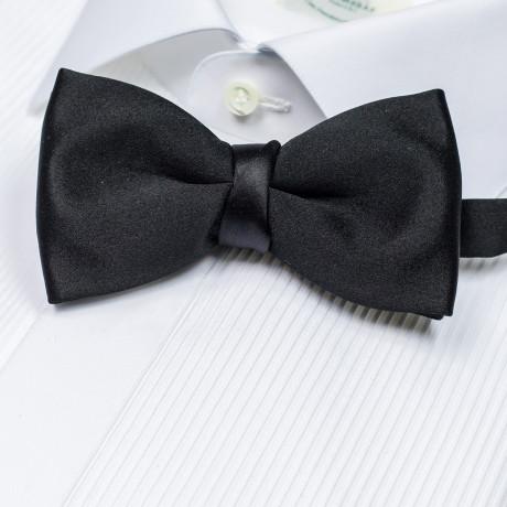 Cesare Attolini Fliege in schwarz aus Seide