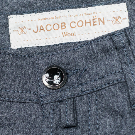 Jacob Cohen Wolljeans J688 Wool in grau meliert